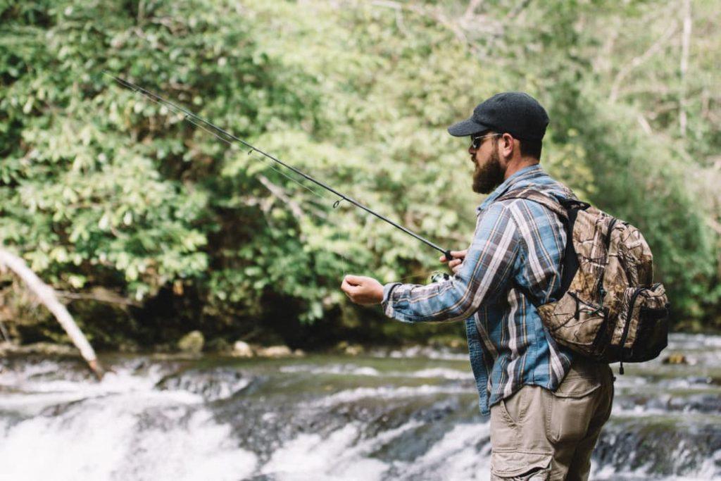 Man fishing outdoor