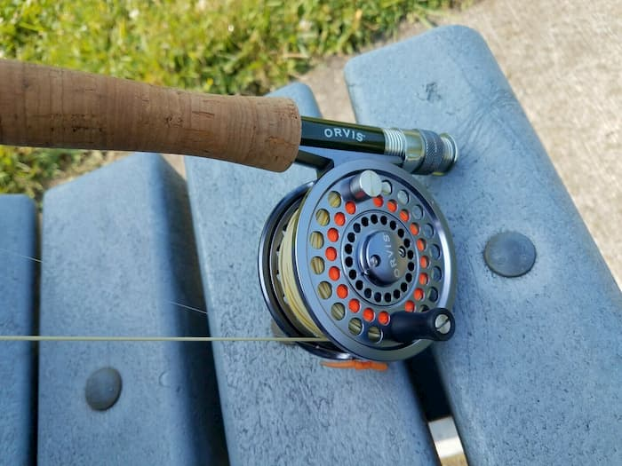 Orvis Clearwater on bench